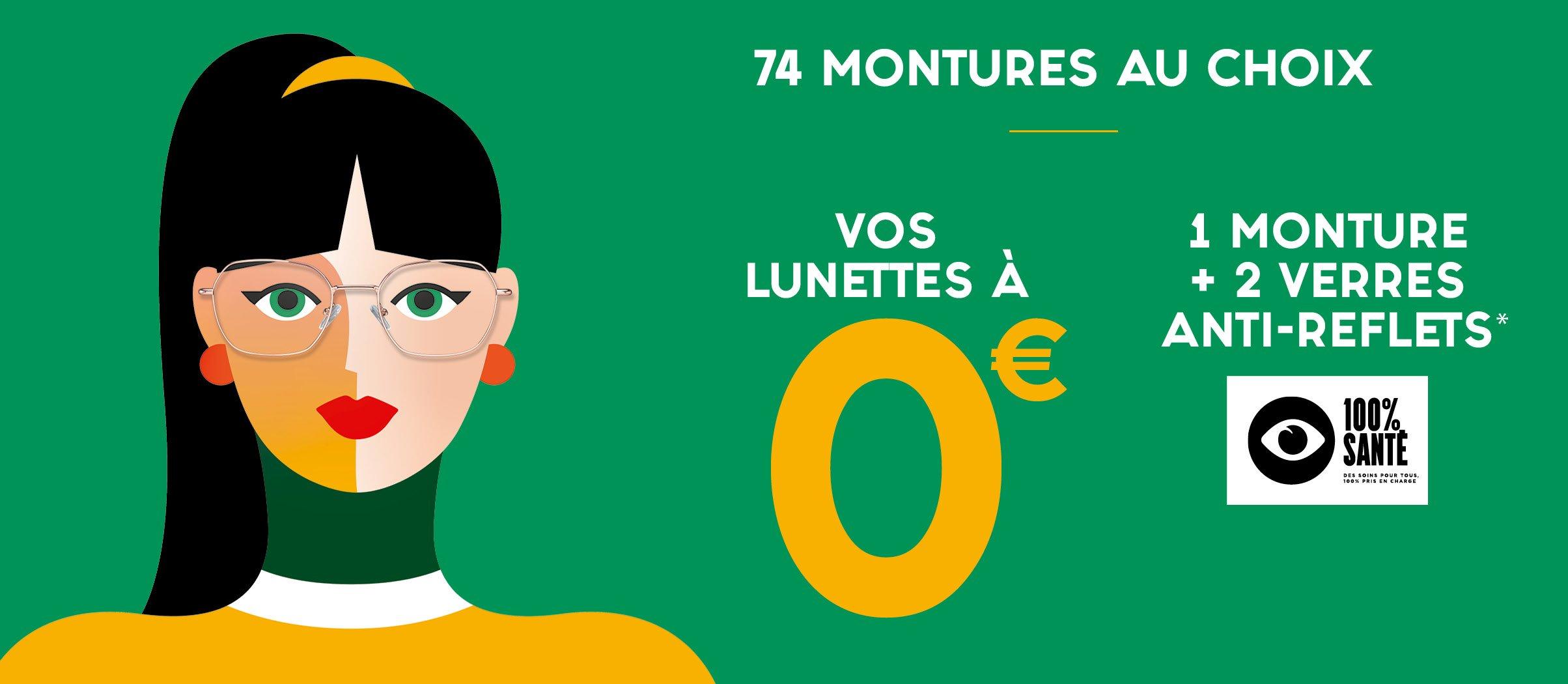 Bannière OP2 Vos lunettes à 0€